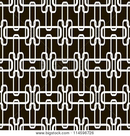 Abstract Seamless Pattern Of Overlapping Geometric Elements
