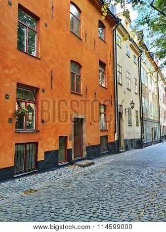 Residential Buildings In The Old Center Of Stockholm