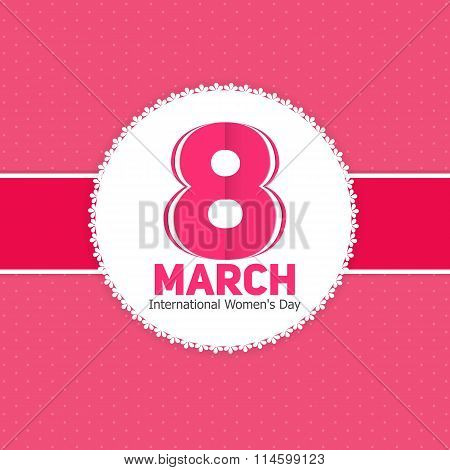 Womens Day Greeting Card 8 March Vector Illustration