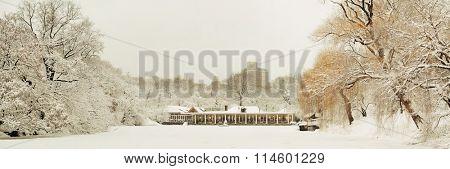 Central Park panorama winter in midtown Manhattan New York City