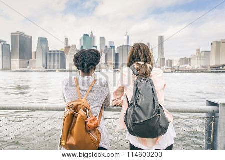 Women Looking At Skyline