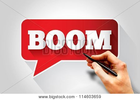 Boom Text Message