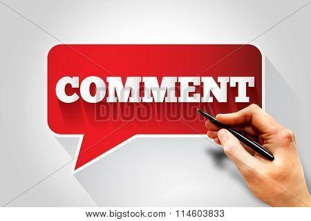 Comment Text Message