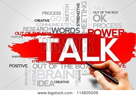 TALK word cloud business concept, presentation background