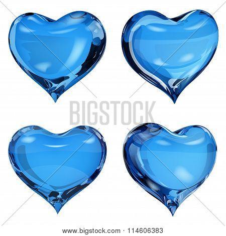 Opaque Blue Hearts