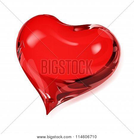 Opaque Red Heart