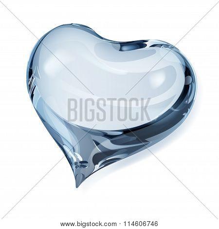 Opaque Light Blue Heart
