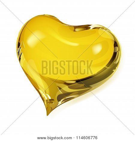 Opaque Yellow Heart