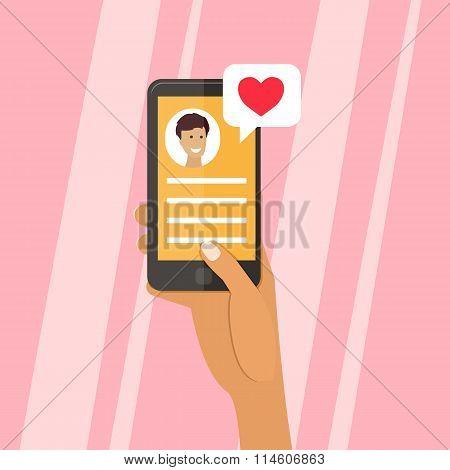 Valentine Day. Love card, Vector chalk sign