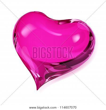 Opaque Pink Heart