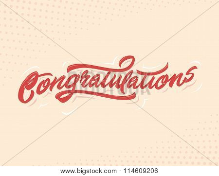 Congratulations Handlettering vector illustration