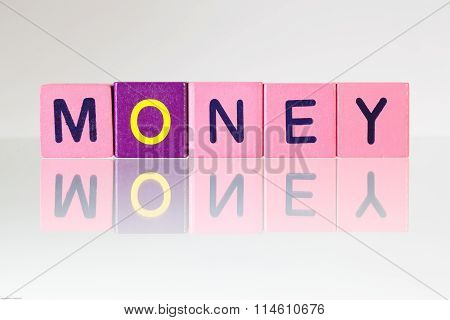 Money - An Inscription From Children's Blocks