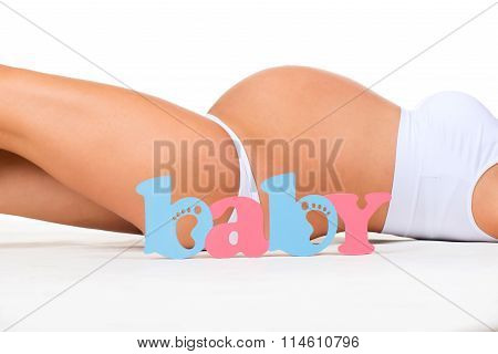 Gender Of Child: Boy, Girl Or Twins? Concept Of Pregnancy. Pregnant Woman