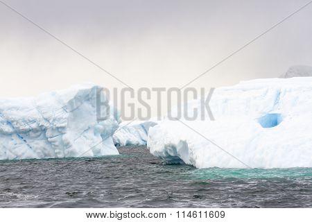 Floating Icebergs, Antarctica