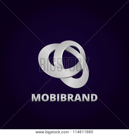 Abstract Mobius strip Logo Design Template