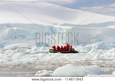 Zodia Cruisers In Antarctica