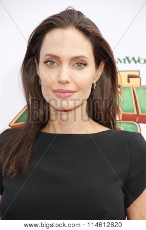 Angelina Jolie at the Los Angeles premiere of  'Kung Fu Panda 3' held at the TCL Chinese Theater in Hollywood, USA on January 16, 2016.