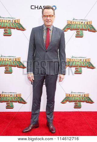 Bryan Cranston at the Los Angeles premiere of  'Kung Fu Panda 3' held at the TCL Chinese Theater in Hollywood, USA on January 16, 2016.