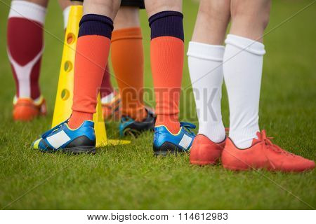 Sport Background. Soccer Team; Football Team; Soccer Socks And Shoes