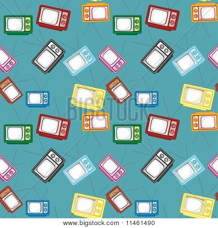 seamless pattern isolated tv set
