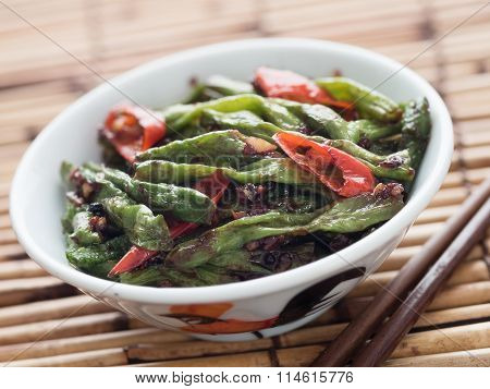 Rustic Chinese Long Snake Bean Stir Fry
