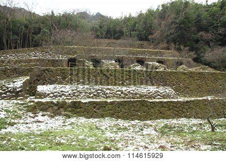 Shimizudani refinery ruins in Iwami ginzan silver mine Shimane Japan