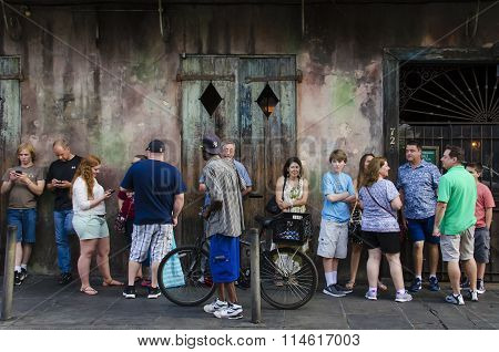 People standing in line in New Orleans