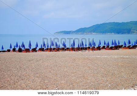 Wonderful Chaise-longue On The Beach