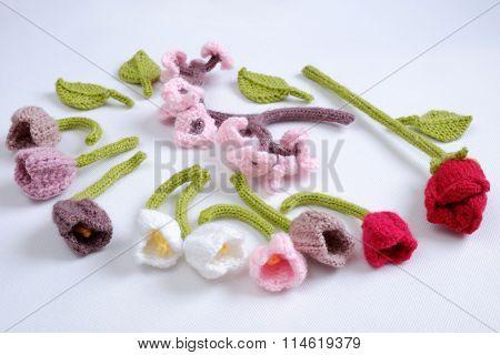 Spring Flower, Handmade Tulip, Diy, Knit