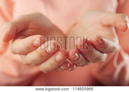 Human hands closeup