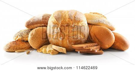 Bread and ears isolated on white