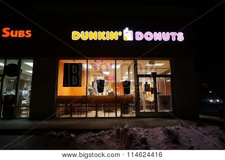 Dunkin' Donuts on New Year's Eve