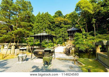 Gravel Path Stone Bridge Chion-in Temple Kyoto