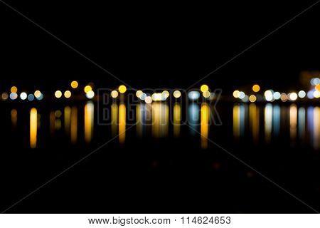 Defocused Lights Background. Abstract Bokeh Lights