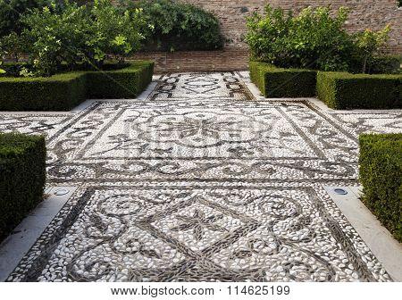 Alhambra Pebble Mosaic