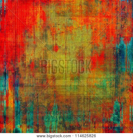 Old antique texture (for background). With different color patterns: brown; blue; green; red (orange)