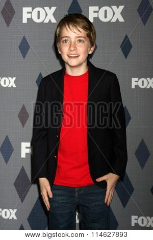 LOS ANGELES - JAN 15:  Connor Kalopsis at the FOX Winter TCA 2016 All-Star Party at the Langham Huntington Hotel on January 15, 2016 in Pasadena, CA