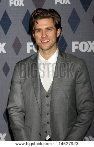 LOS ANGELES - JAN 15:  Aaron Tveit at the FOX Winter TCA 2016 All-Star Party at the Langham Huntington Hotel on January 15, 2016 in Pasadena, CA