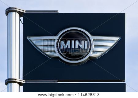 Mini Cooper Automobile Dealership Sign