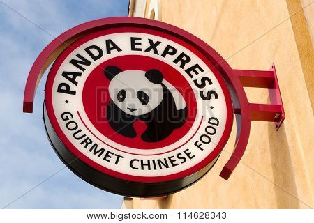 Panda Express Exterior And Logo.
