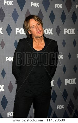 LOS ANGELES - JAN 15:  Keith Urban at the FOX Winter TCA 2016 All-Star Party at the Langham Huntington Hotel on January 15, 2016 in Pasadena, CA
