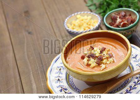 salmorejo, chilled tomato soup, spanish food