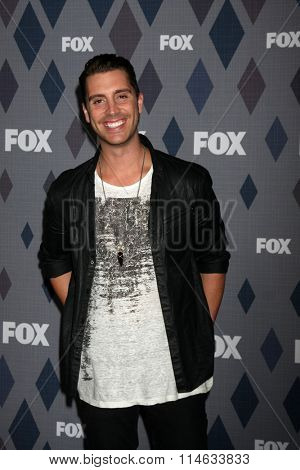 LOS ANGELES - JAN 15:  Nick Fradiani at the FOX Winter TCA 2016 All-Star Party at the Langham Huntington Hotel on January 15, 2016 in Pasadena, CA