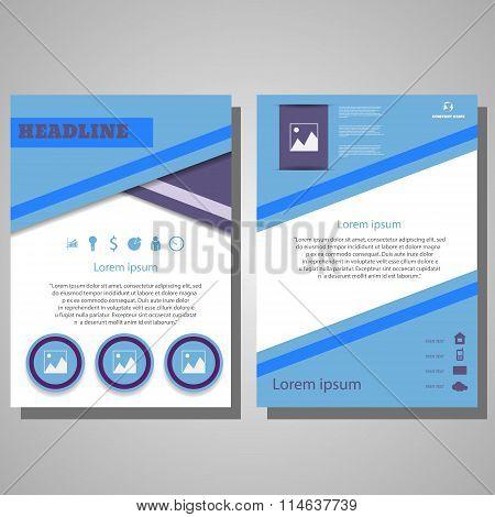 Violet Blue Colour Brochure Flyer Design Layout Template.infographic Vector Eps 10