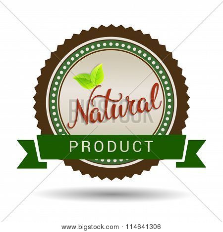 Original Hand Lettering Natural And Eco Design Elements. Handmade Calligraphy. Organic, Bio, Natural
