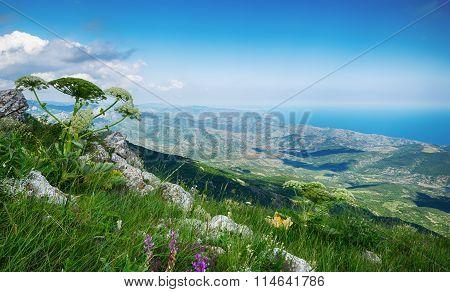 View From The Rocks, Karabi - Yayla, Crimea, Russia