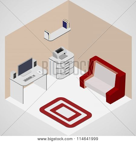 Room Interior Isometric