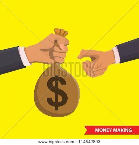 Money making illustration