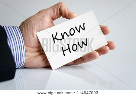 Know How Text Concept