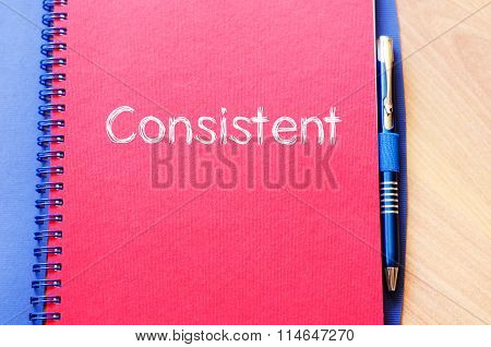 Consistent Write On Notebook